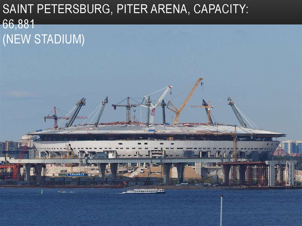 Saint Petersburg, Piter Arena, Capacity: 66,881 (new stadium)