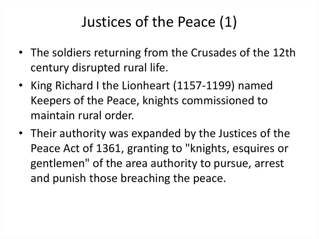 Justices of the Peace (1)