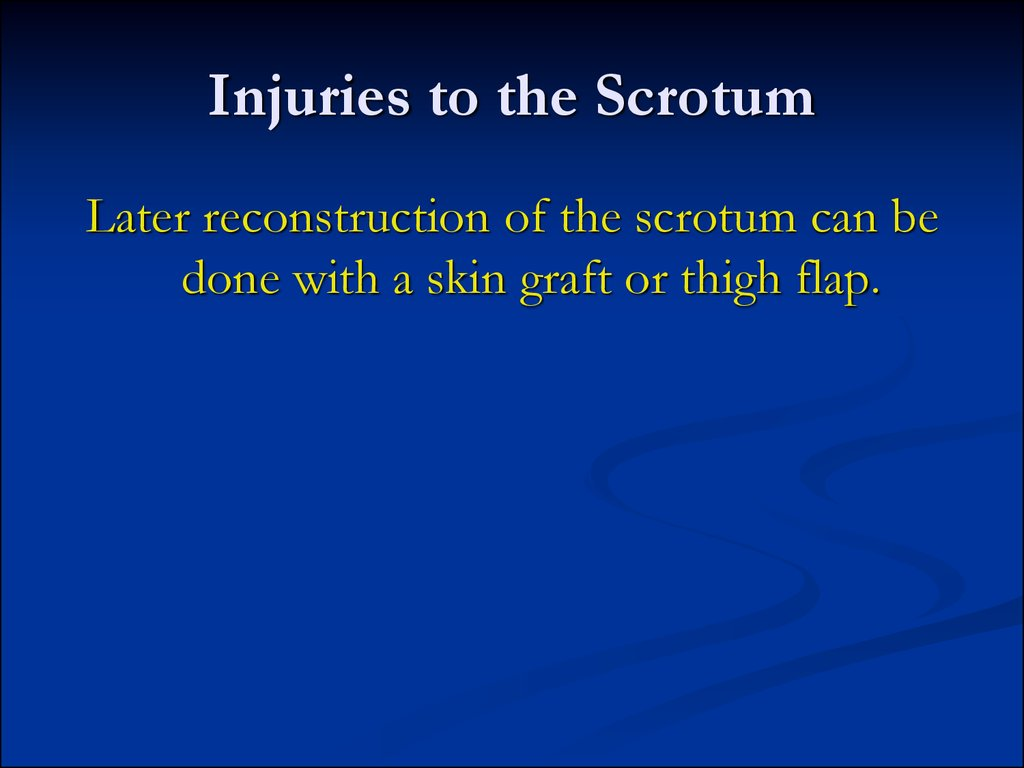 Injuries to the Scrotum
