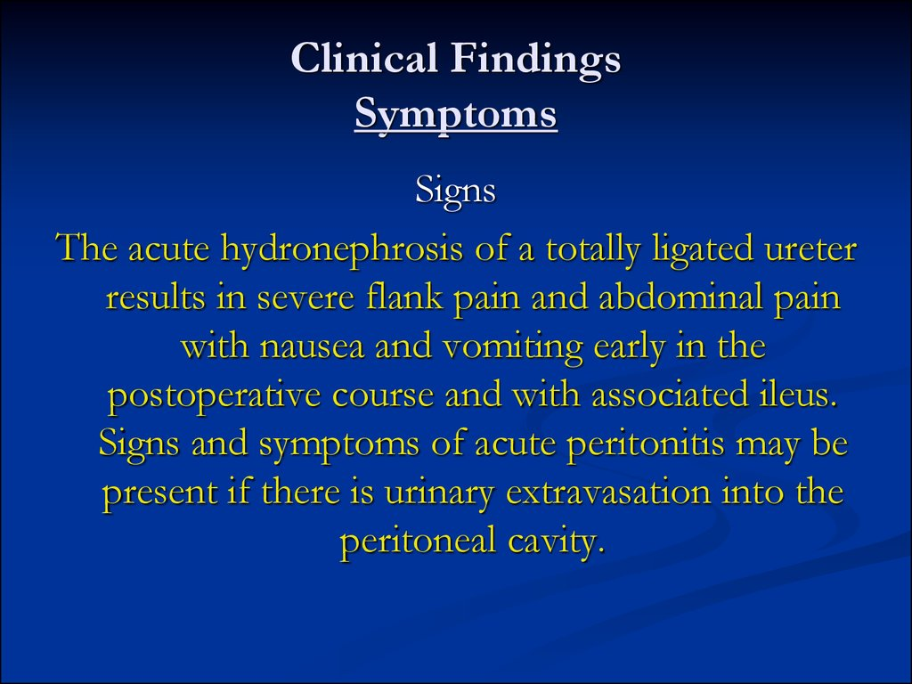 Clinical Findings Symptoms