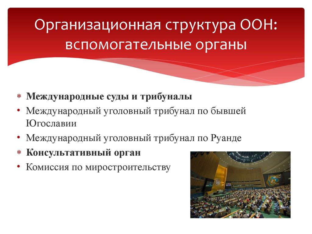 вспомогательные органы генеральной ассамблеи оон