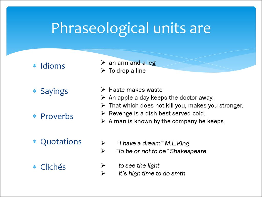 Phraseology. What does phraseology mean - a swan song