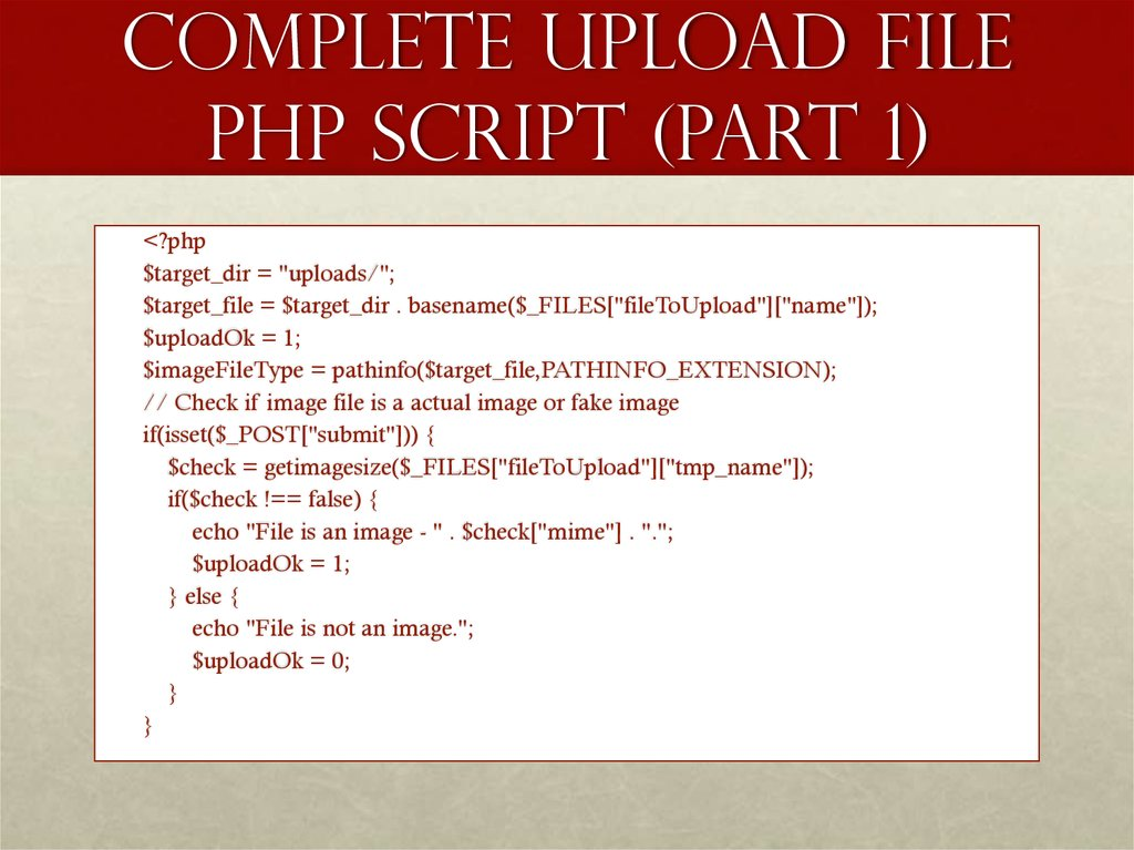 Complete Upload File PHP Script (part 1)