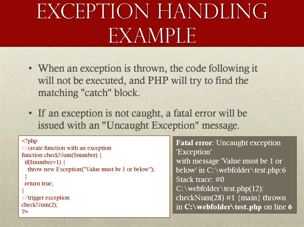 Exception handling example
