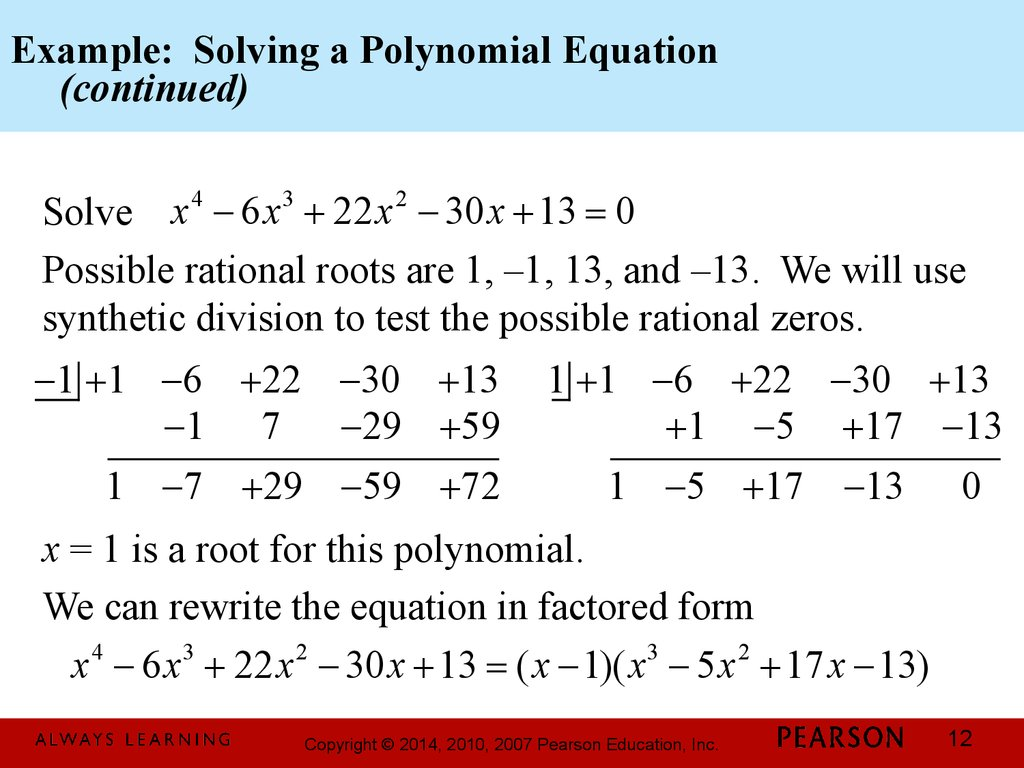 Integer coefficients polynomials
