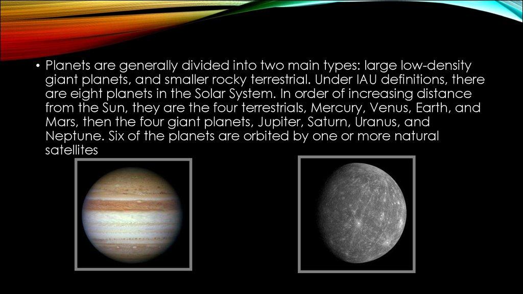 Nine Planets Solar System Tour Online Presentation