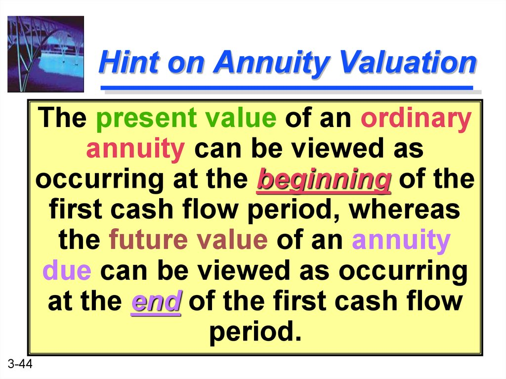 Hint on Annuity Valuation