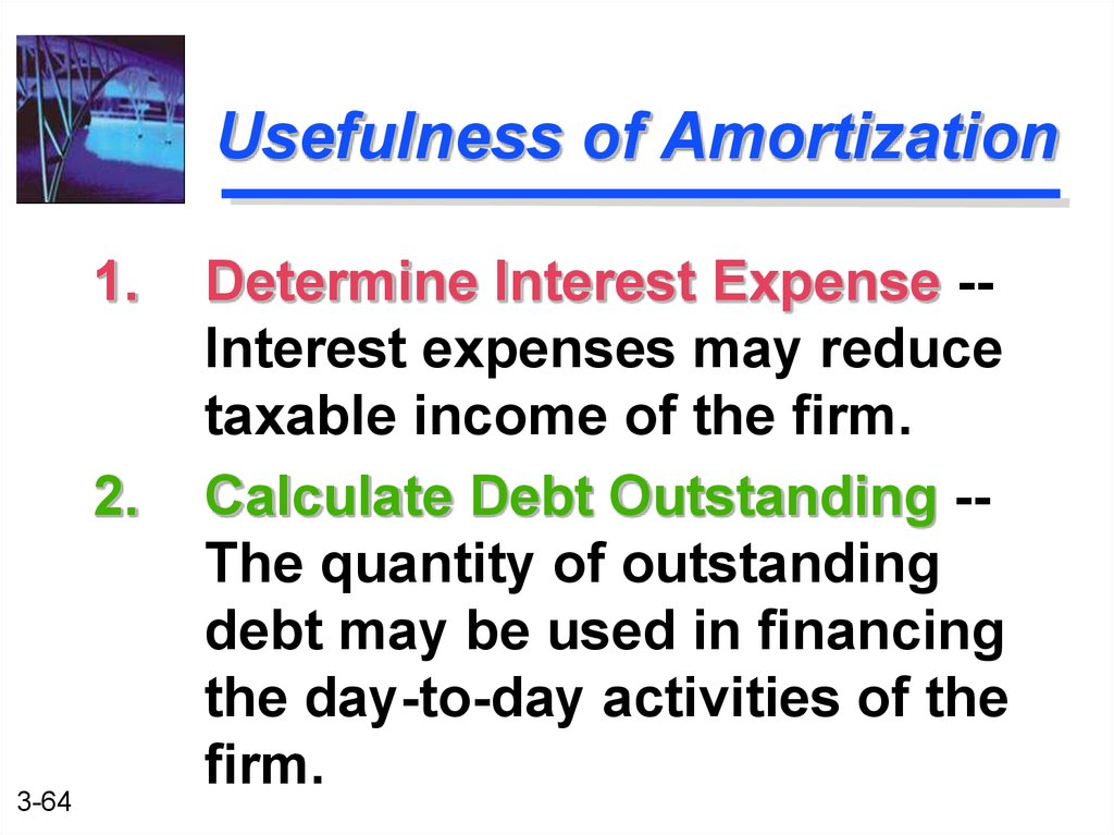 Usefulness of Amortization
