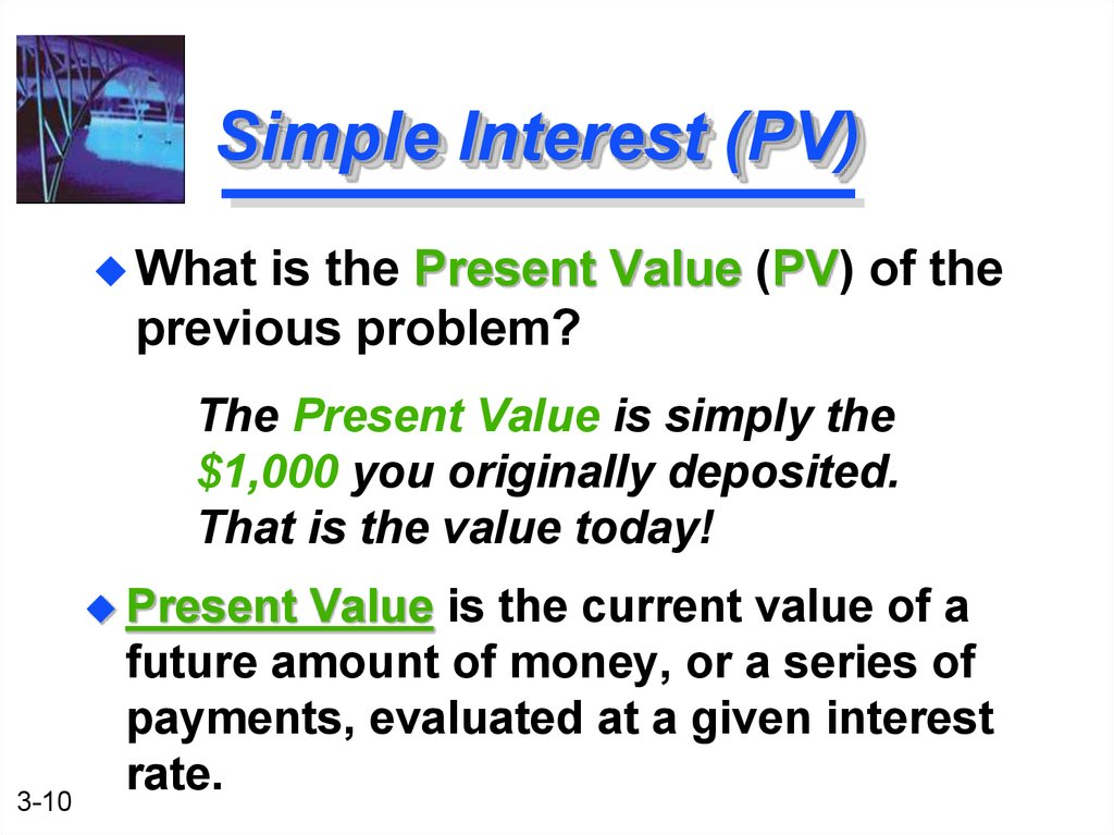 Simple Interest (PV)