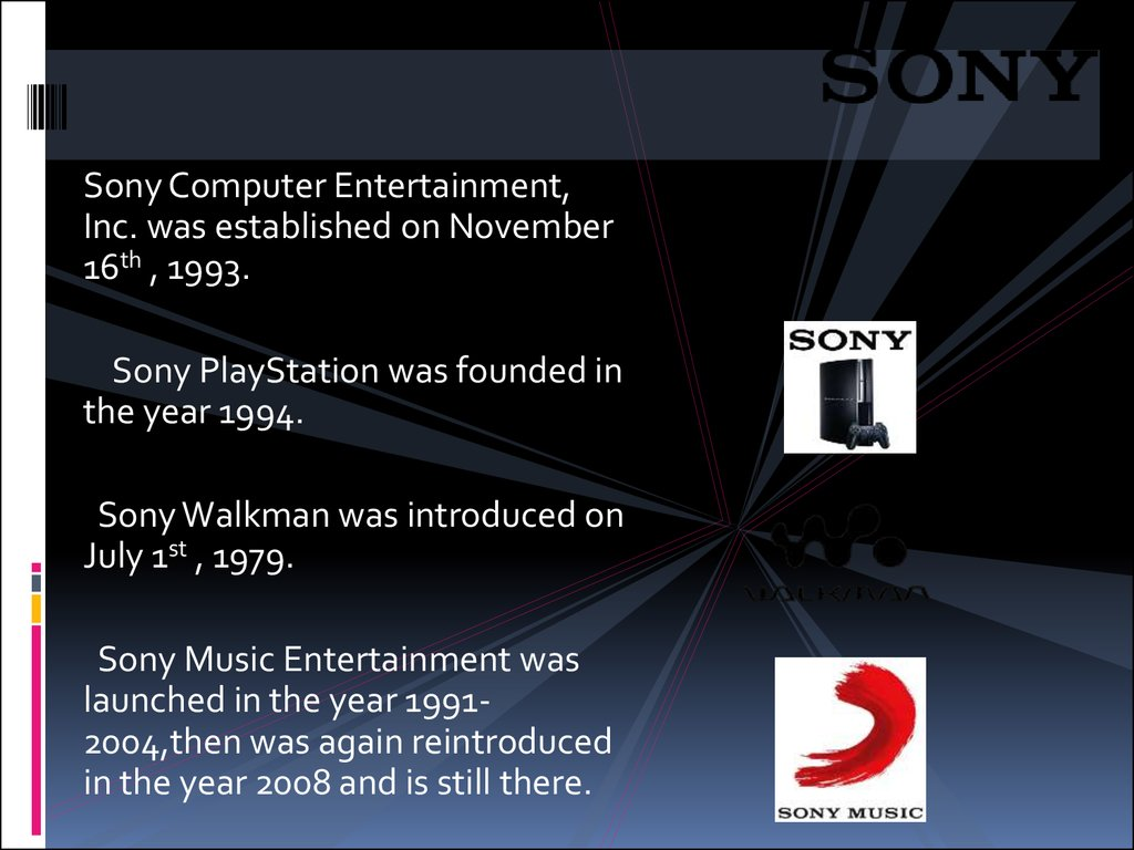 Welcome To The World Of Sony Online Presentation
