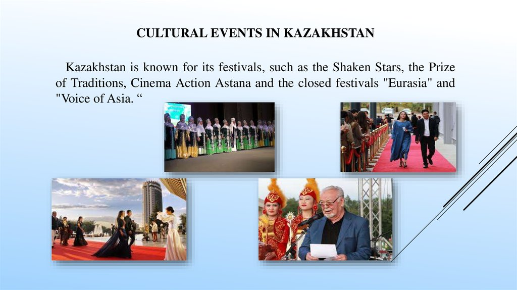 Cultural events in KAZAKHSTAN