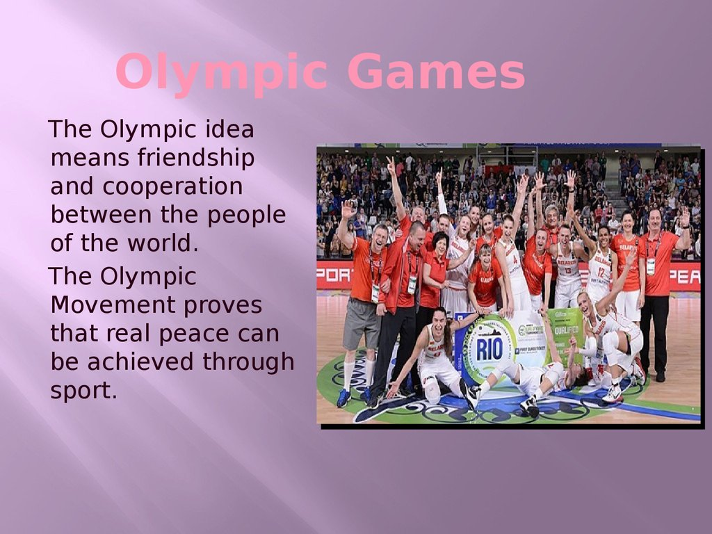 the influence of politics on sport on the example of the olympic games Sports and politics: a steady relationship article six states that the olympic games are is the classic example of the ioc taking a political.