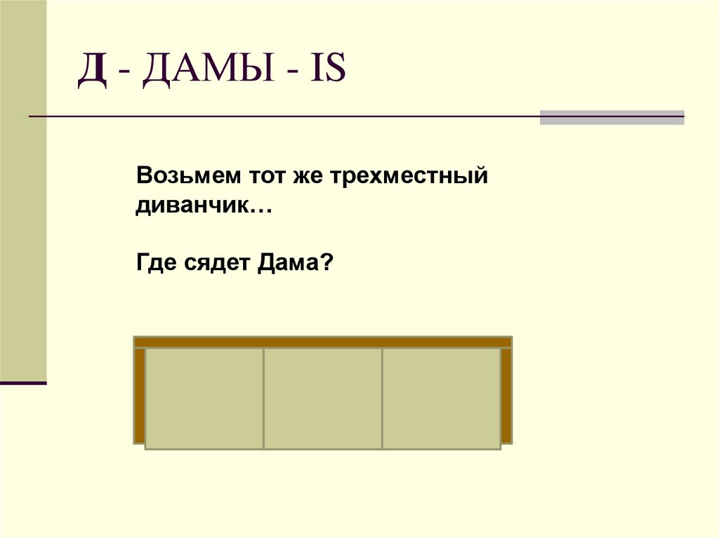 Д - ДAМЫ - IS