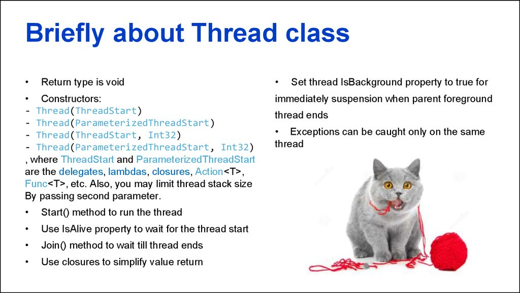 Briefly about Thread class