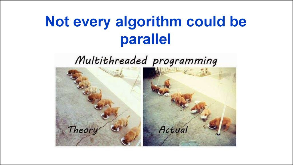 Not every algorithm could be parallel