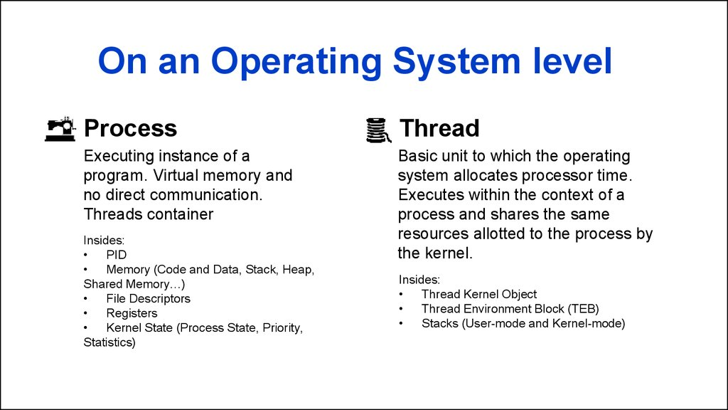 On an Operating System level