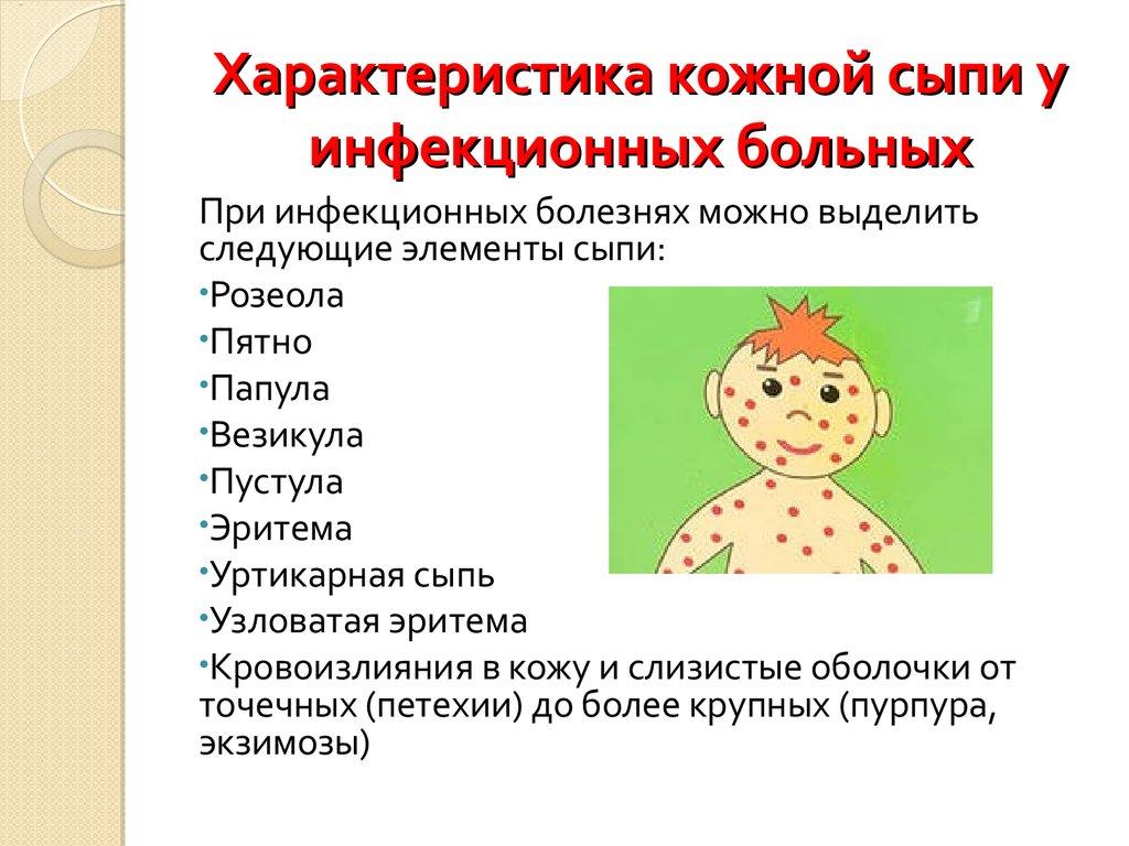 каталог сыпи при инфекционных заболевания лета