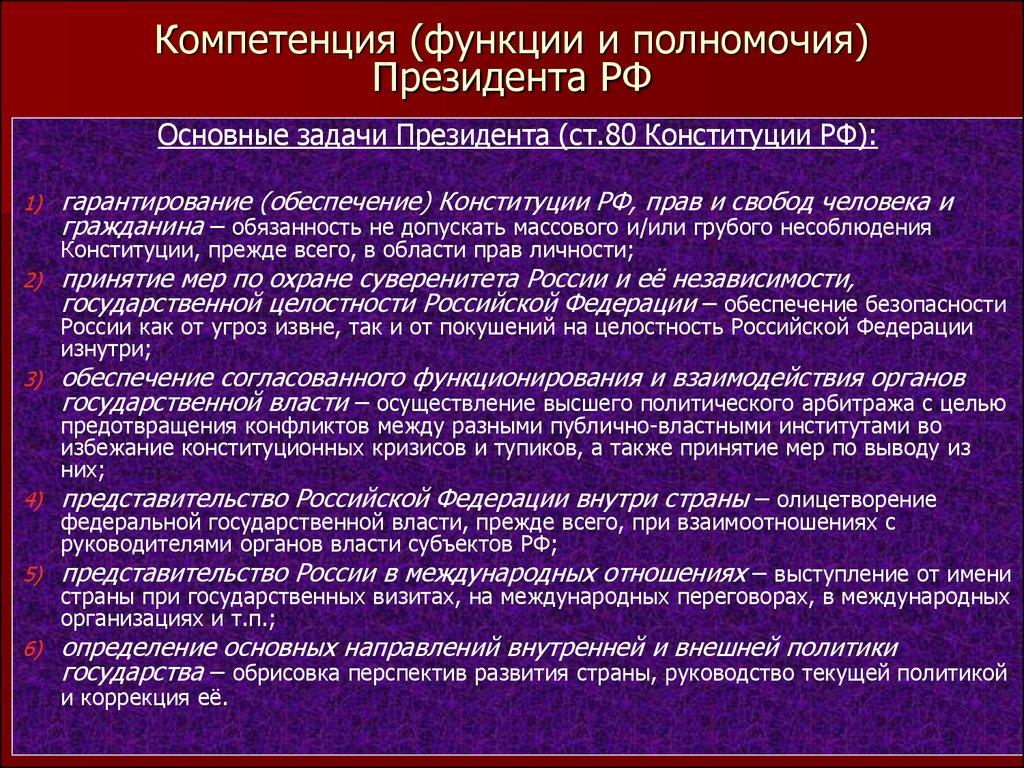 россии шпаргалка и президент избрание полномочия