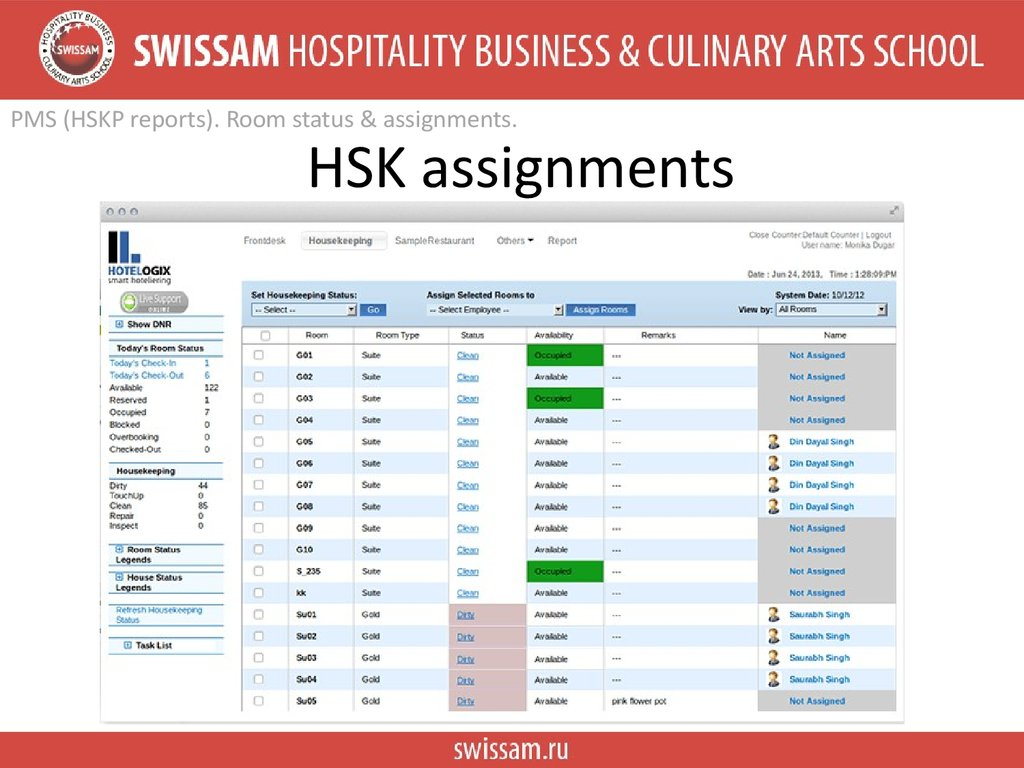 HSK assignments