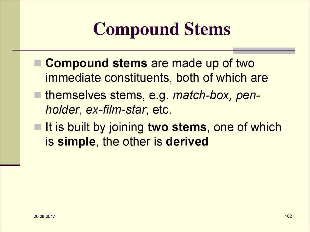 Compound Stems