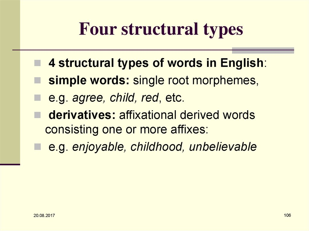 Four structural types