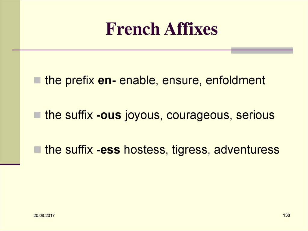 French Affixes