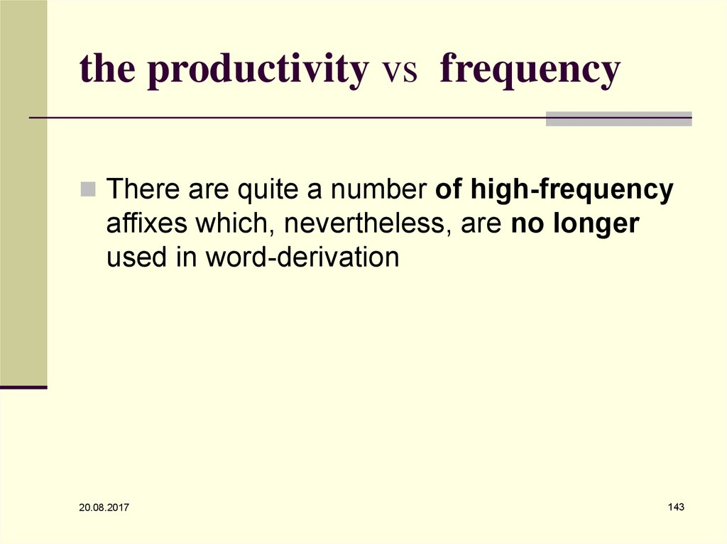the productivity vs frequency