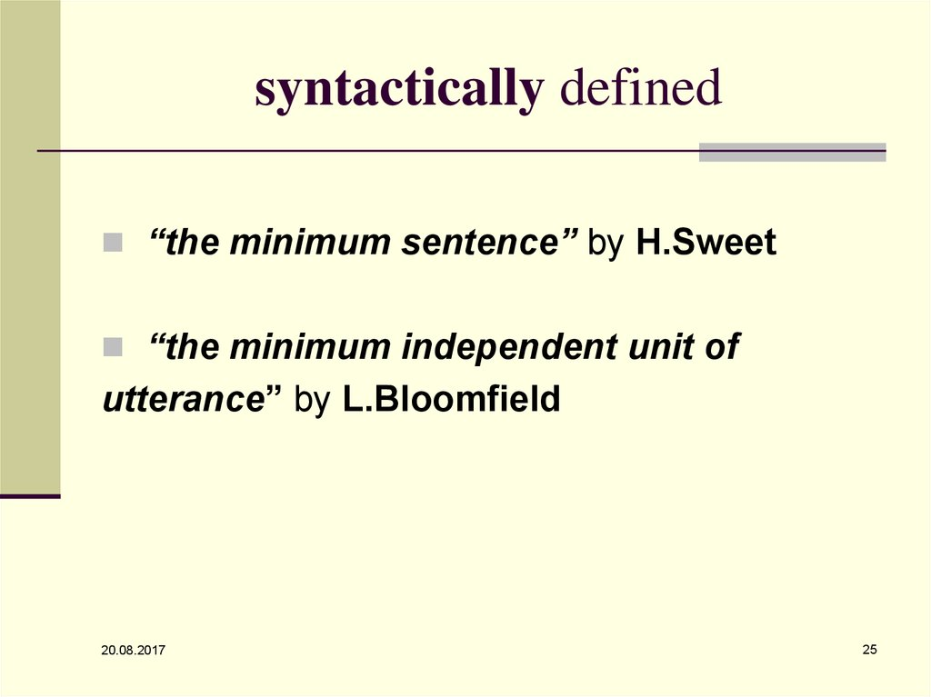 syntactically defined