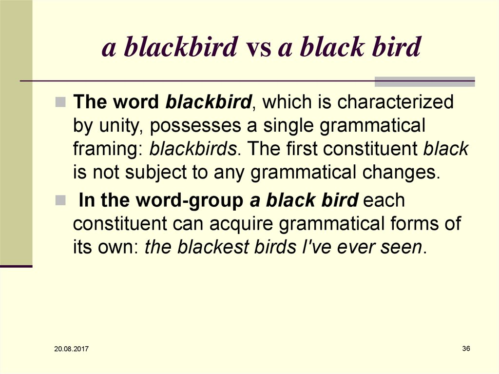 a blackbird vs a black bird