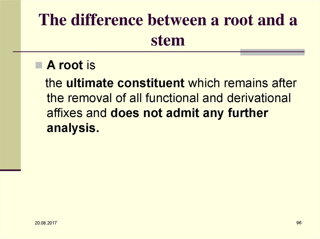 The difference between a root and a stem