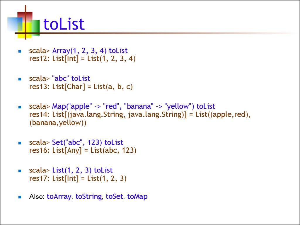 Scala  Lists - online presentation