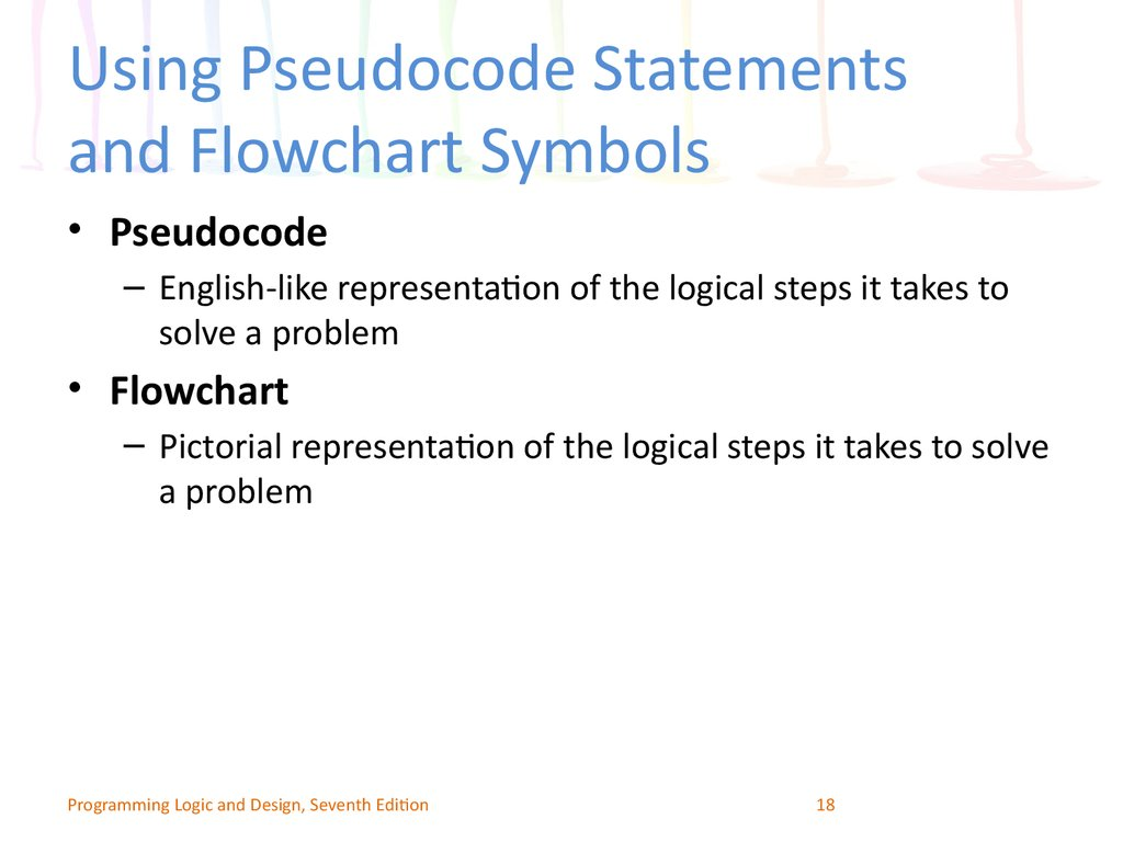 Using Pseudocode Statements and Flowchart Symbols