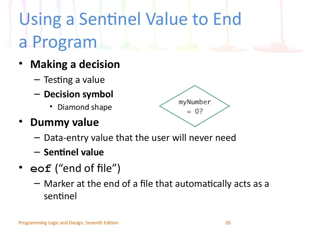 Using a Sentinel Value to End a Program
