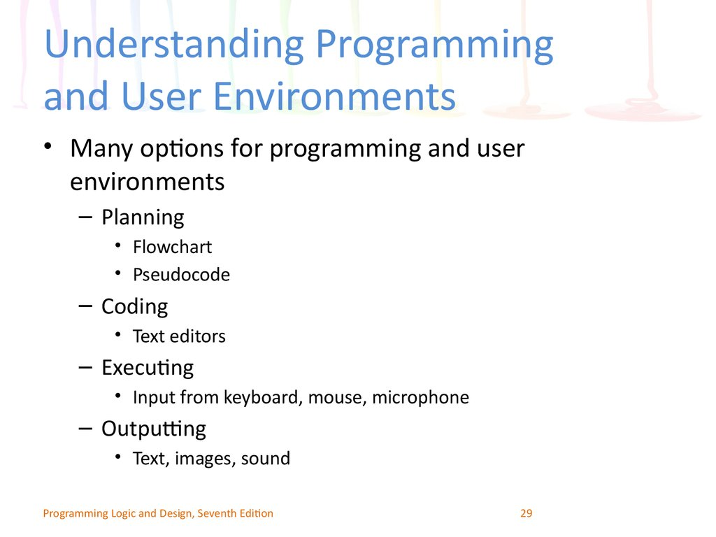 Understanding Programming and User Environments