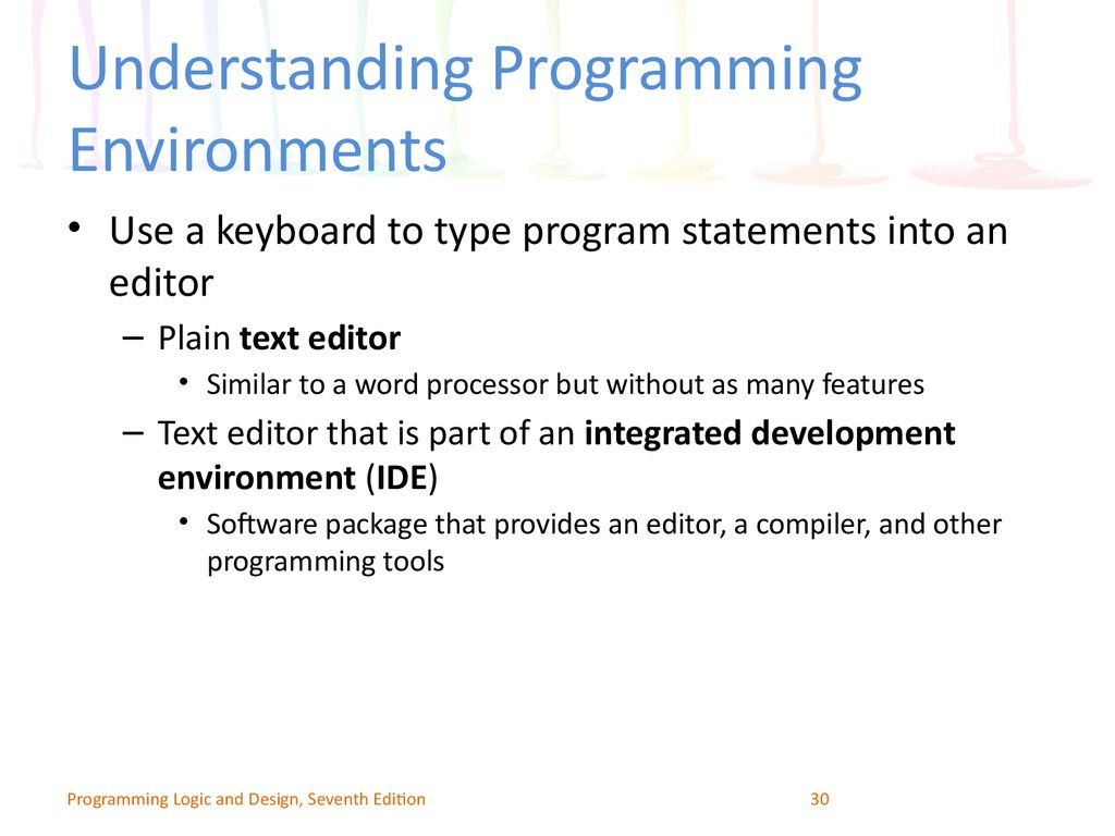 Understanding Programming Environments