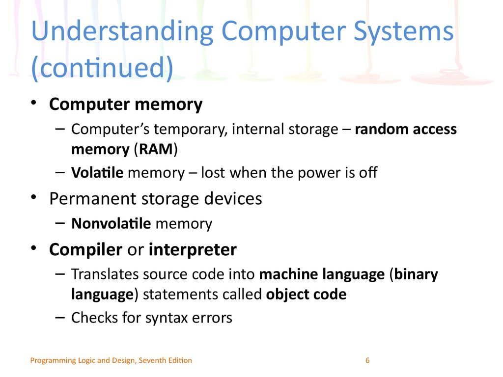 Understanding Computer Systems (continued)