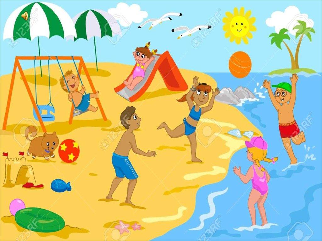Семья на море картинки для описания на английском языке