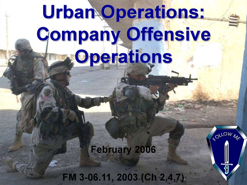 Urban Operations: Company Offensive Operations