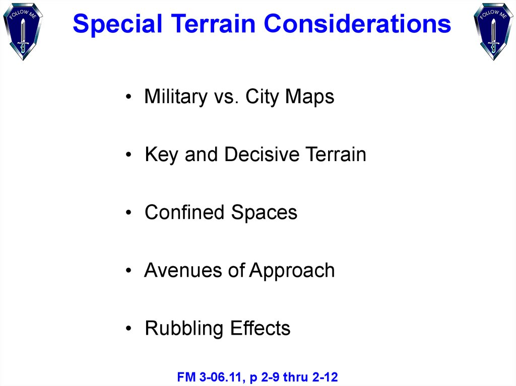 military vs city maps key and decisive terrain confined spaces avenues of approach rubbling effects fm 3 0611 p 2 9 thru 2 12
