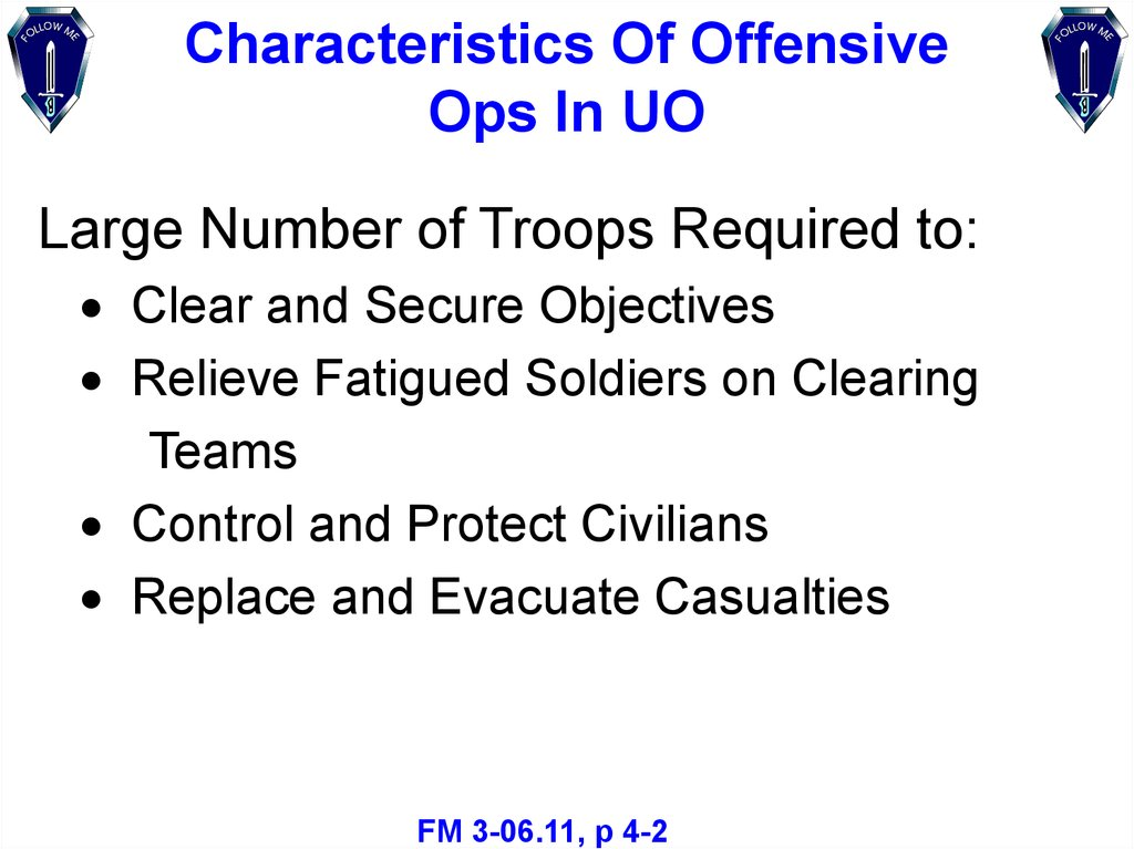 Characteristics Of Offensive Ops In UO