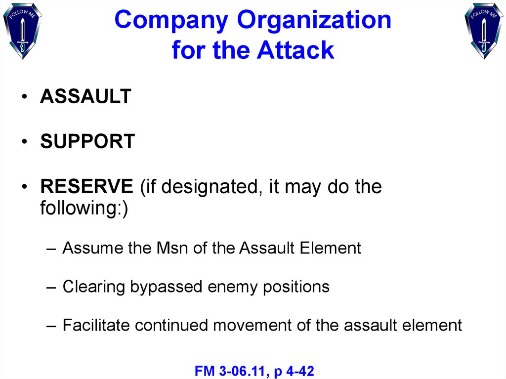 Company Organization for the Attack