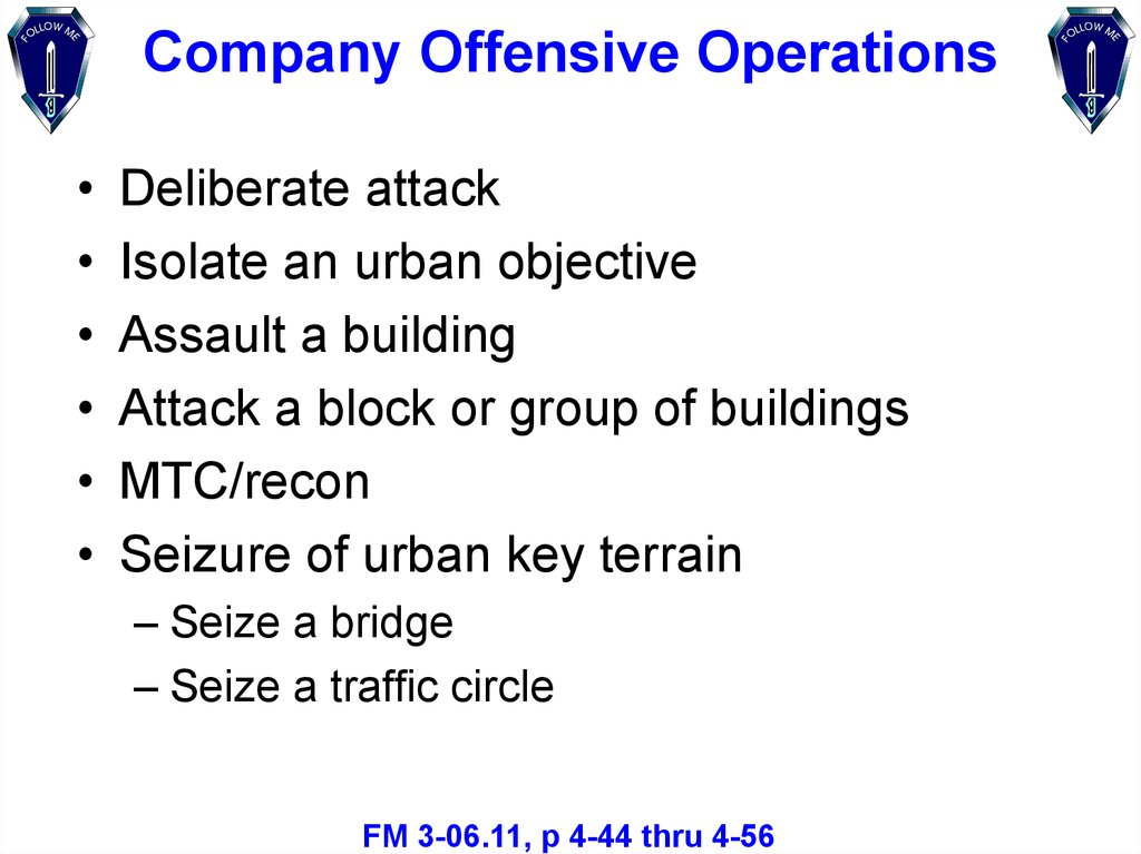 Company Offensive Operations