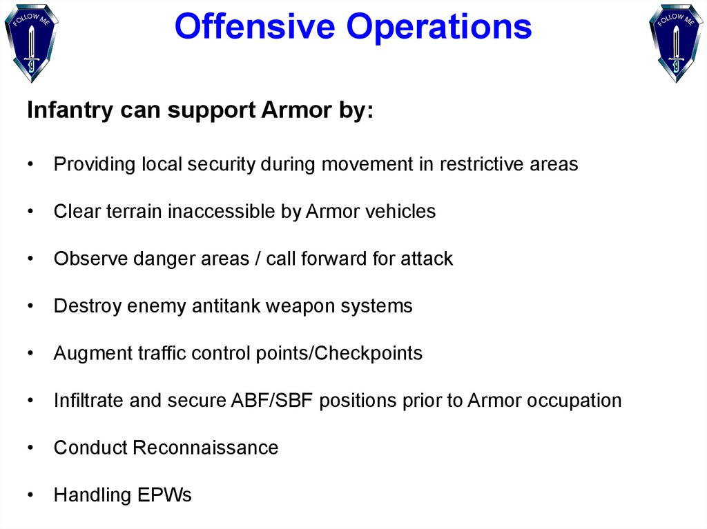 Offensive Operations