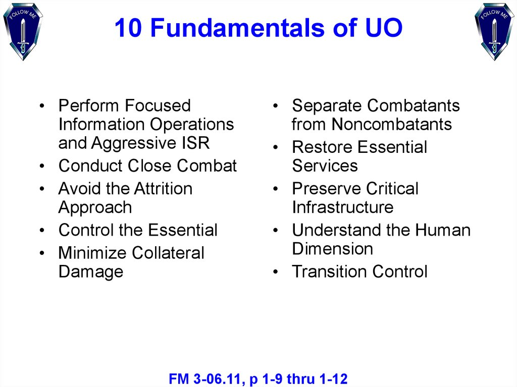 10 Fundamentals of UO