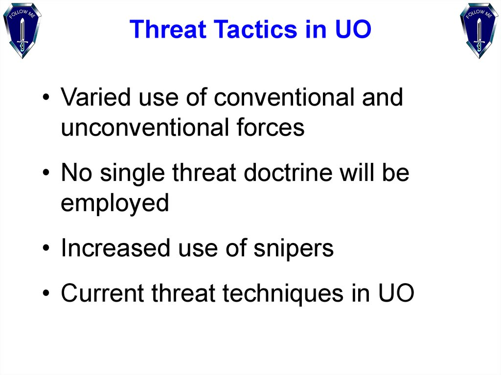 Threat Tactics in UO