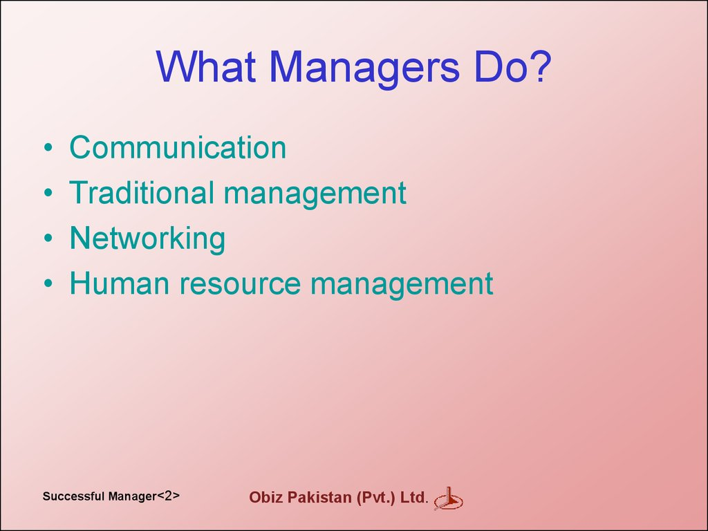 What Managers Do?