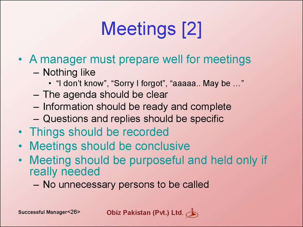 Meetings [2]