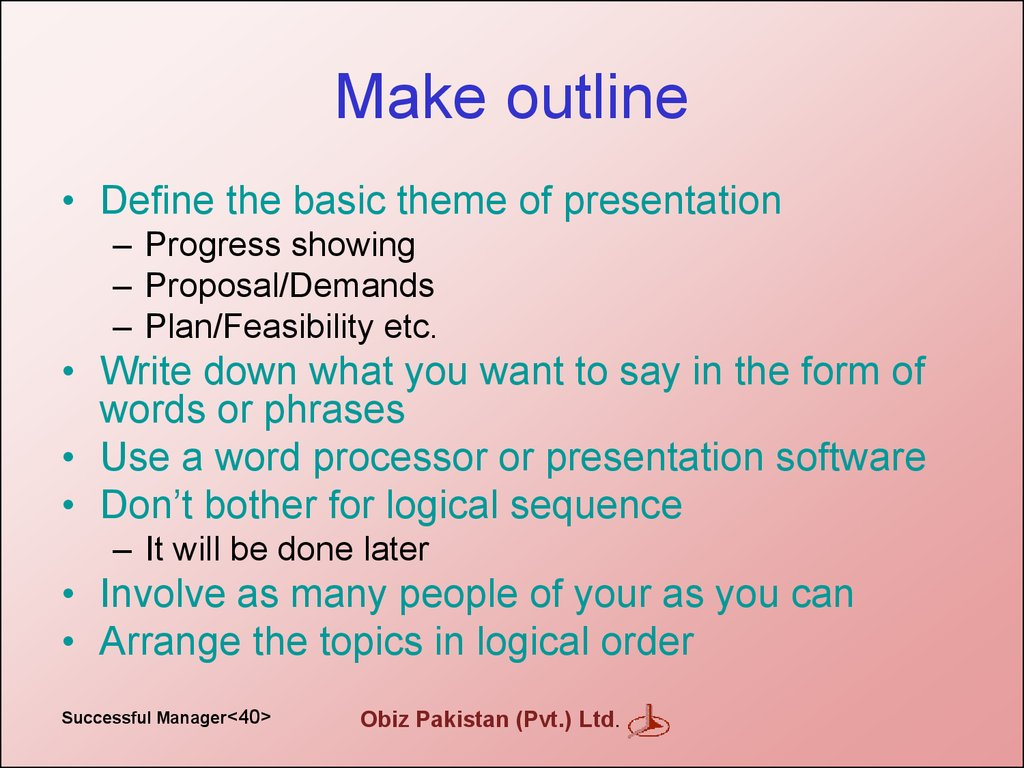 Make outline