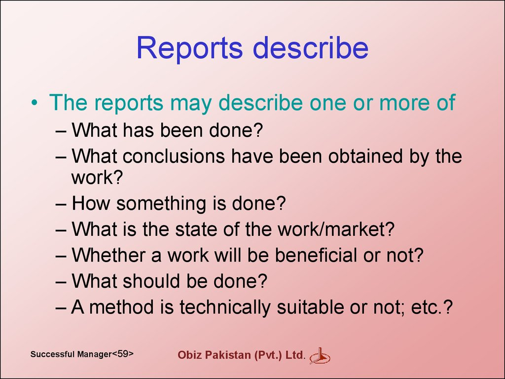 Reports describe