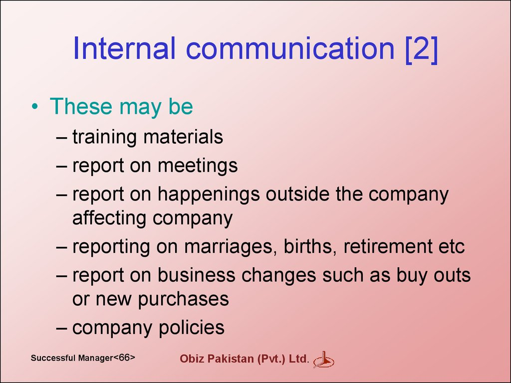 Internal communication [2]